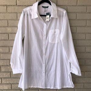 NWT Ralph Lauren White Cotton Tunic - X-large